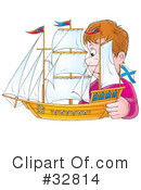 Royalty-Free (RF) Ship Clipart Illustration #32814