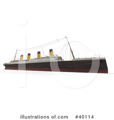 Cruise Ship Clipart #40114 by Frank Boston