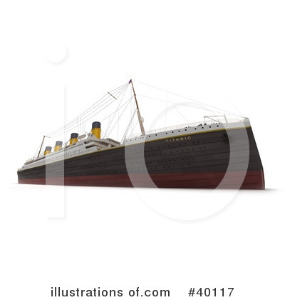 Cruise Ship Clipart #40117 by Frank Boston