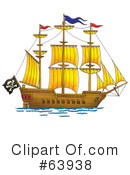 Royalty-Free (RF) Ship Clipart Illustration #63938