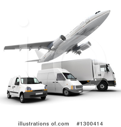 Trucking Industry Clipart #1300414 by Frank Boston