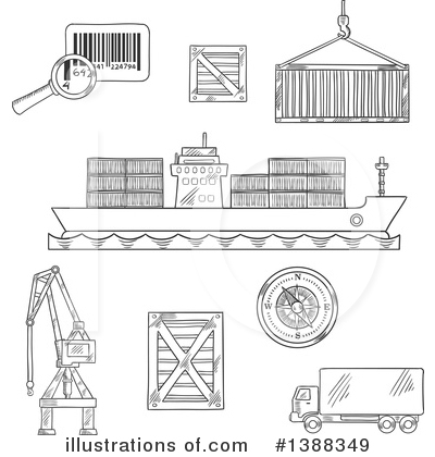 Truck Clipart #1388349 by Vector Tradition SM