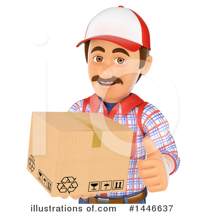 Delivery Man Clipart #1446637 by Texelart