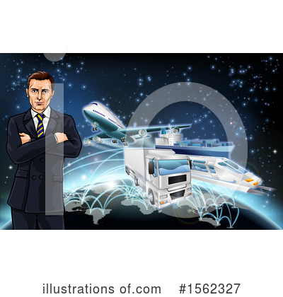 Logistics Clipart #1562327 by AtStockIllustration