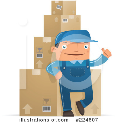 Delivery Man Clipart #224807 by Qiun