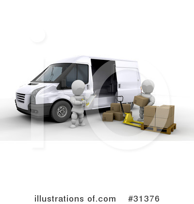 Delivery Van Clipart #31376 by KJ Pargeter