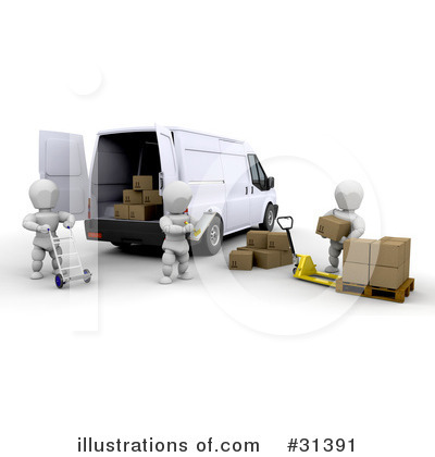 Delivery Van Clipart #31391 by KJ Pargeter