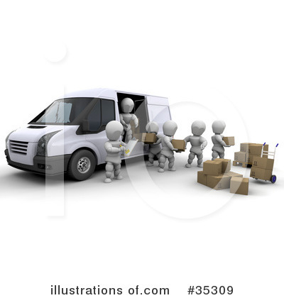 Delivery Van Clipart #35309 by KJ Pargeter