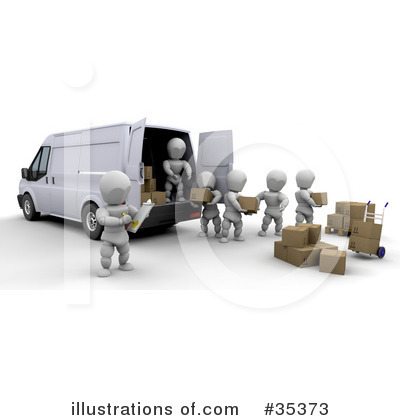Delivery Van Clipart #35373 by KJ Pargeter