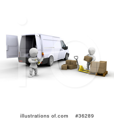 Delivery Van Clipart #36289 by KJ Pargeter