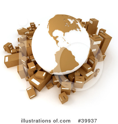 Royalty-Free (RF) Shipping Clipart Illustration by Frank Boston - Stock Sample #39937