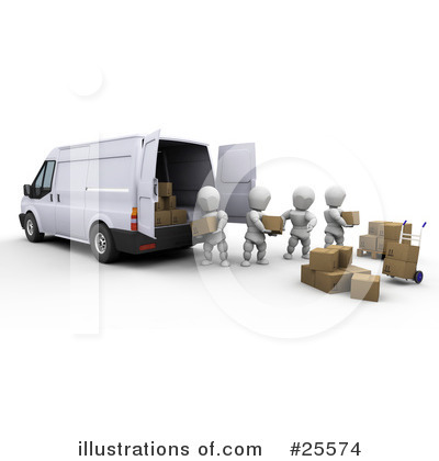 Delivery Van Clipart #25574 by KJ Pargeter