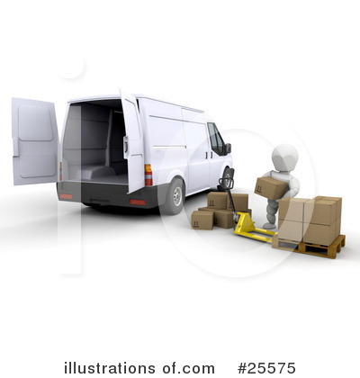 Delivery Van Clipart #25575 by KJ Pargeter