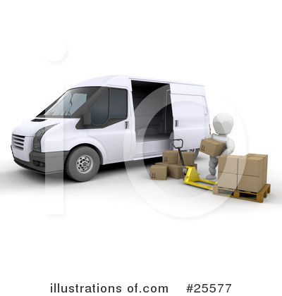 Delivery Van Clipart #25577 by KJ Pargeter