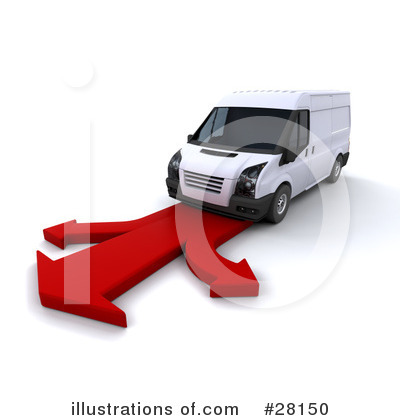 Delivery Van Clipart #28150 by KJ Pargeter