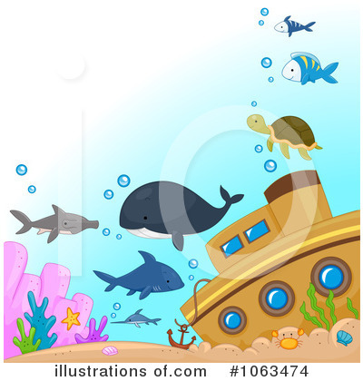 Shark Clipart #1063474 by BNP Design Studio