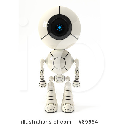 Robot Clipart #89654 by Leo Blanchette