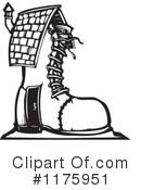Royalty-Free (RF) Shoe Clipart Illustration #1175951