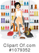 Royalty-Free (RF) Shoes Clipart Illustration #1079352