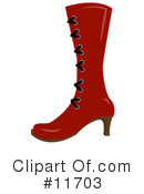 Royalty-Free (RF) Shoes Clipart Illustration #11703