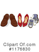 Royalty-Free (RF) Shoes Clipart Illustration #1176830