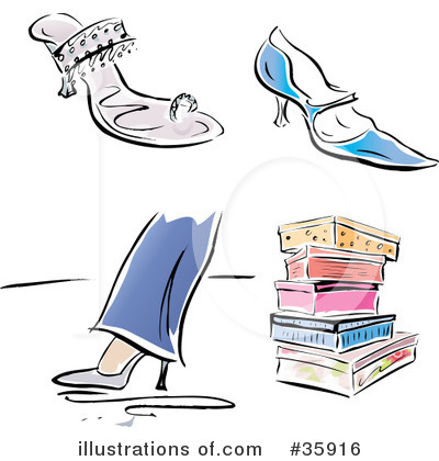 High Heel Clipart #35916 by Lisa Arts