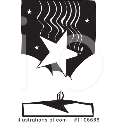 Royalty-Free (RF) Shooting Star Clipart Illustration by xunantunich - Stock Sample #1106686