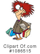 Royalty-Free (RF) Shopper Clipart Illustration #1086515