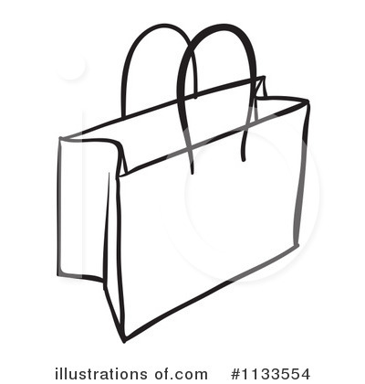 Black And White Grocery Bag Clip Art Shopping bags clipart black
