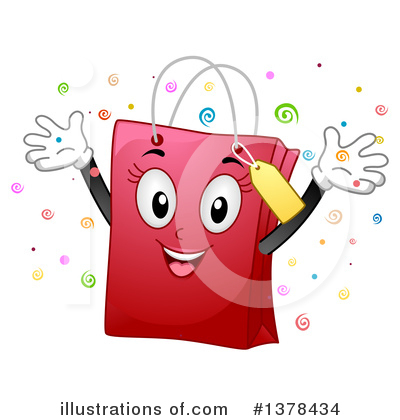 Shopping Bag Clipart #1378434 by BNP Design Studio