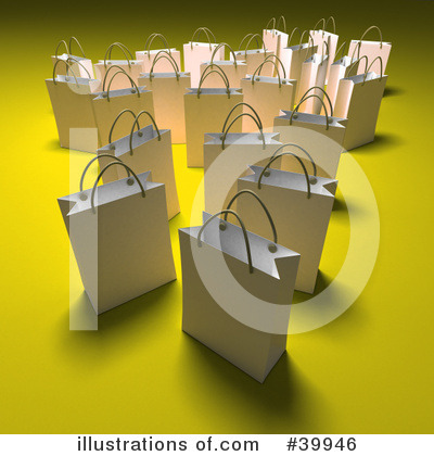 Shopping Bag Clipart #39946 by Frank Boston