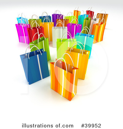 Shopping Bag Clipart #39952 by Frank Boston