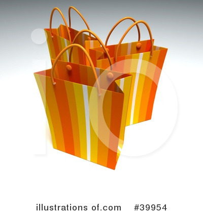 Shopping Bag Clipart #39954 by Frank Boston