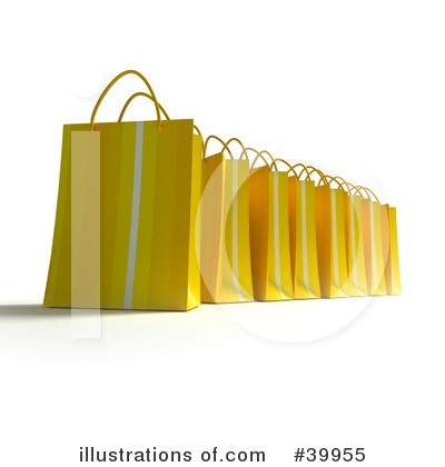 Shopping Bag Clipart #39955 by Frank Boston