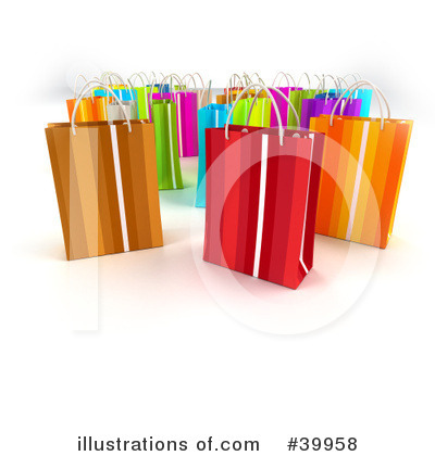 Shopping Bag Clipart #39958 by Frank Boston