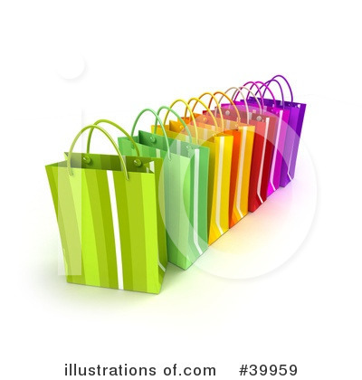 Shopping Bag Clipart #39959 by Frank Boston
