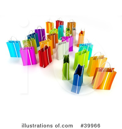 Shopping Bag Clipart #39966 by Frank Boston