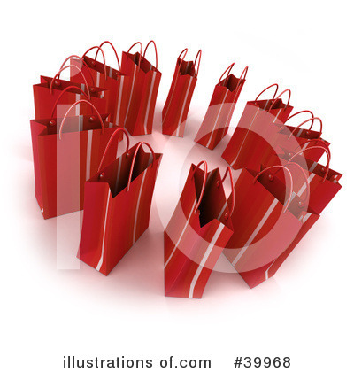 Shopping Bag Clipart #39968 by Frank Boston