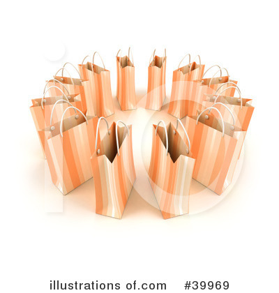 Shopping Bag Clipart #39969 by Frank Boston