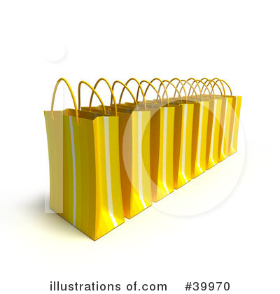 Shopping Bag Clipart #39970 by Frank Boston