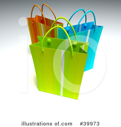 Shopping Bag Clipart #39973 by Frank Boston
