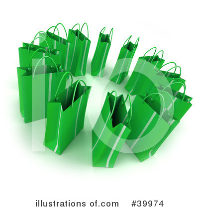 Shopping Bag Clipart #39974 by Frank Boston