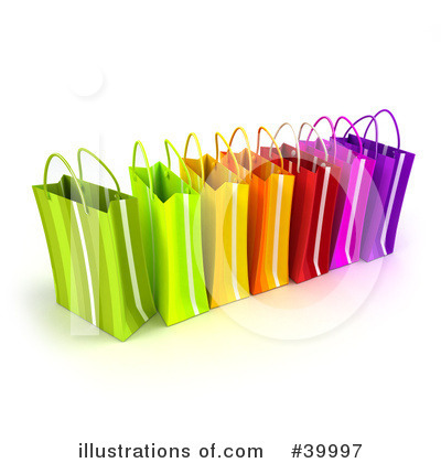 Royalty-Free (RF) Shopping Bag Clipart Illustration by Frank Boston - Stock Sample #39997