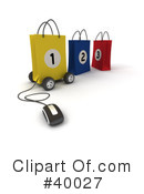 Shopping Bag Clipart #40027 by Frank Boston