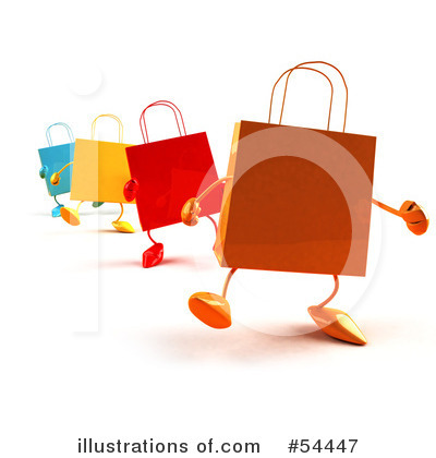 Shopping Bag Clipart #54447 by Julos