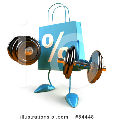 Royalty-Free (RF) Shopping Bag Clipart Illustration by Julos - Stock Sample #54448