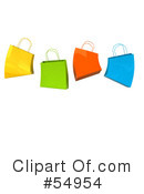 Royalty-Free (RF) Shopping Bag Clipart Illustration #54954