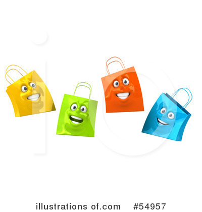 Shopping Bag Clipart #54957 by Julos