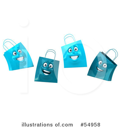 Shopping Bag Clipart #54958 by Julos
