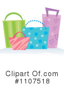Royalty-Free (RF) Shopping Bags Clipart Illustration #1107518